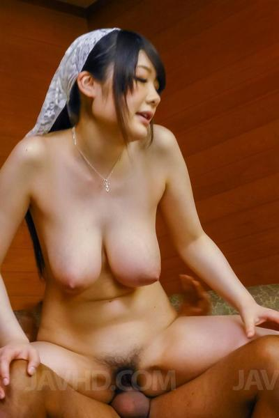 Mouth and pussy of Asian chick Rie Tachikawa are filled with the bone hard stick