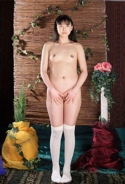 Slim young Asian babe Youko Sasaoka poses outdoor and indoor totally nude