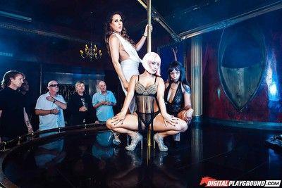 Asian pornstar Eva Lovia strips naked before sucking and fucking cock