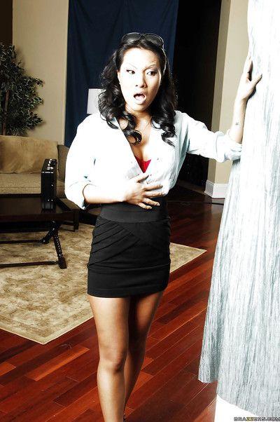 Asian wife Asa Akira stripped and got her asshole banged hard core
