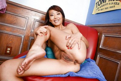Close up posing action features amateur Asian babe Miko Dali