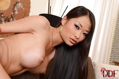 Hardcore asshole banging of sexy Asian brunette named PussyKat
