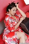 Voluptuous asian MILF Mika Tan slowly uncovering her tempting curves