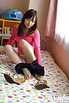 Sweet asian teen babe Hikaru Koto uncovering her tempting curves
