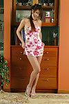 Amateur Asian babe with great legs flashing upskirt underwear