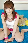 Asian girl Yuuki Idols teases with sexy panty and shows the naked pussy
