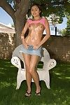 The exciting Asian gadget Michelle Maylene doing various kinky things outdoor