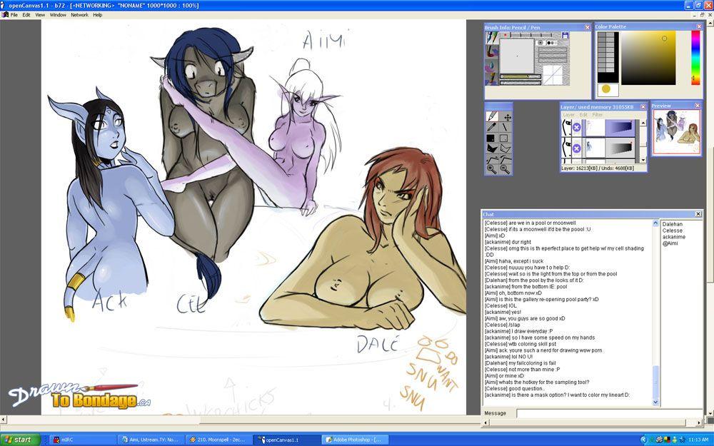 Drawn hentai pics with seductive elvish sluts