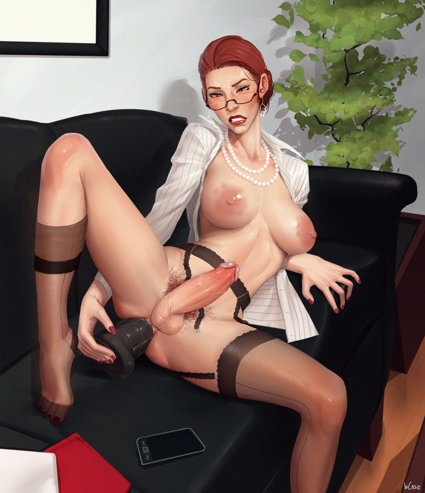Anime shemales anal toying