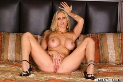 Largest meloned milf Julia Ann officer her twat to gentleman after she takes off her office suit and undies