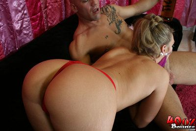 Sassy blond Brianna Love in Japanese outfit has an mad fuck session
