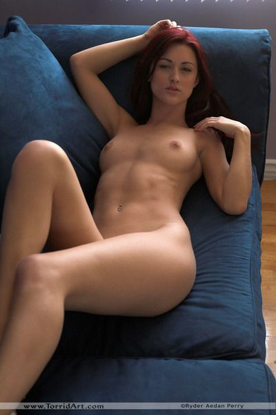 Dark brown gal Karlie Montana accepts bare to pose bare with her skillful legs apart