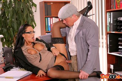 Crazy about cock, Mela acquires the full pack