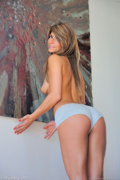 Mali plays naughty although being nude and sexually aroused during Master solo