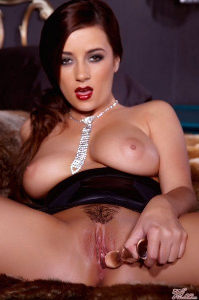 Kinky breasty brunette in underclothes Taylor Vixen playing with all kinds of fucking action stuff