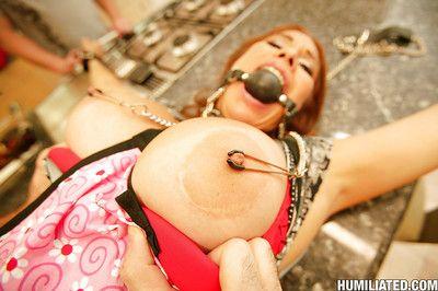 MILF babe Sheila Marie gains her anal opening team-banged in hardcore BDSM fucking