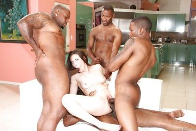 Interracial pornstar Casey Calvert going ATM during the time that spiteful groupie