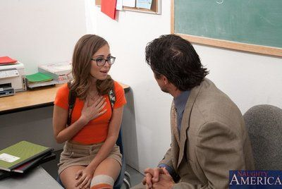 This ache adolescent Riley Reid got an excellent mark for the wild fuck with professor