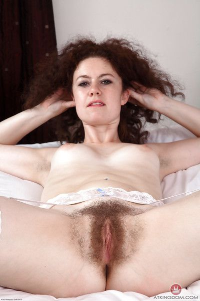 Wavy placid Candy amazes with posing her shaggy pussy and a-hole