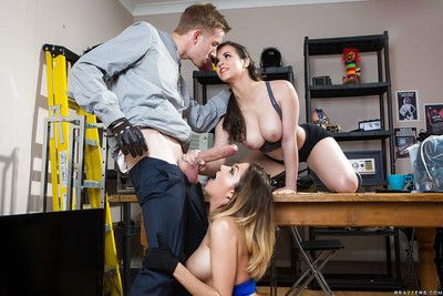 Euro chicitas Cara Saint-Germain and Nekane Appealing hit giant weenie in threesome