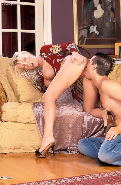 Busty Nadia Cohen and her companion in jeans have a steamy fuck with immeasurable knob thrusts.
