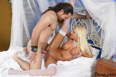 Require haired leggy golden-haired Donna Pretty with round inflexible pointer sisters has fucking action in white..
