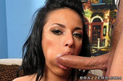 Raven haired busty french angel Anissa Kate takes tight snake in her european gentile