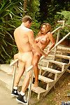 Bosomy bimbo Demi Delia is crying out getting penetrated in all possible ways outdoor