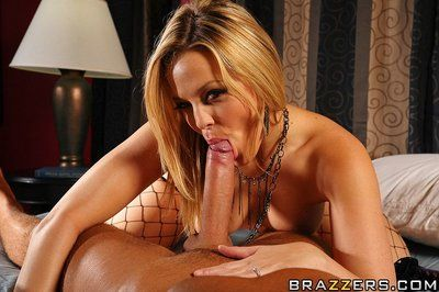 Perfect ass blonde Alexis Texas in fishnet stockings and high heels takes big hard dick
