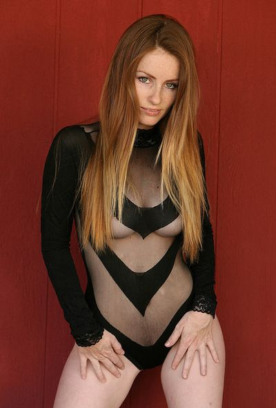 Sexy model Skyler Steele looks stunning in her amazingly black erotic outfit