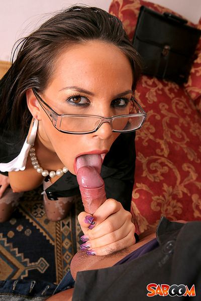 Screaming office beauty with a big cock up her ass