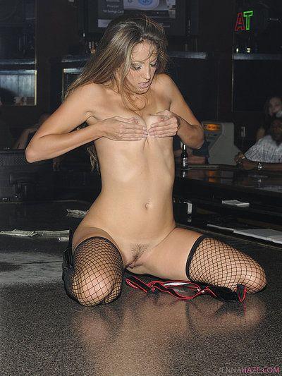 Small titted leggy stripper Jenna Haze can