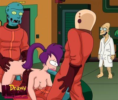 Futurama - Cubert Farnsworth and Aliens fuck Leela