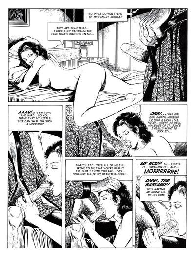 Big breasted brunette gal in black and white comics pics