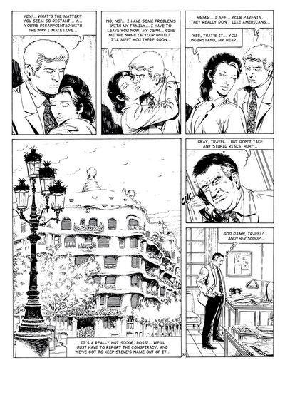 Большой грудью Брюнетка Гал в черный и белый комиксы Фото