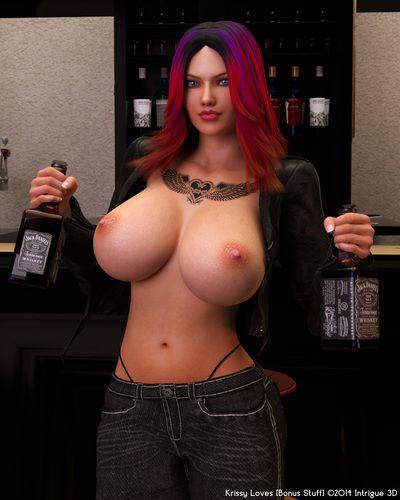 That redhead 3d slut has really huge tits