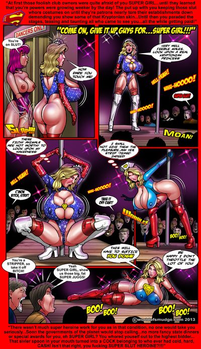Super girl with super tits in super comics!