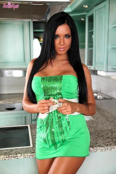 Raven Capelli tan Pelle Babe ashley bulgari Strisce nudo e utilizza ROSA Dildo