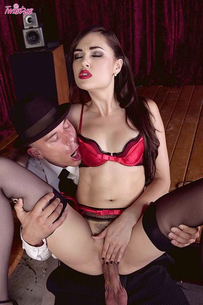 Hot Sasha Grey is in for a harsh fuck along stud eager to crack her fanny