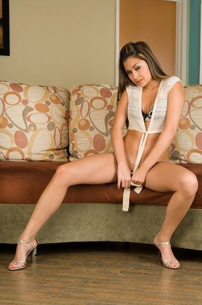 This Asian babe Michelle Maylene seems to be proud of her clean shaved nub