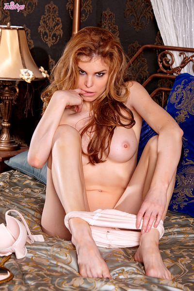 Kinky redhead likes to play nasty when deep masturbating her wet vag