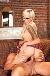 Blonde schoolgirl Emma Mae gets into the disposal of the insolent guy with hard stick
