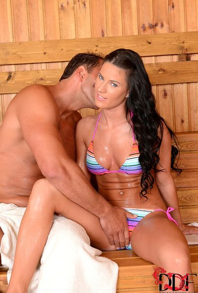 Untraditional brown hair likes having hunk licking and fucking her tight vag in hardcore
