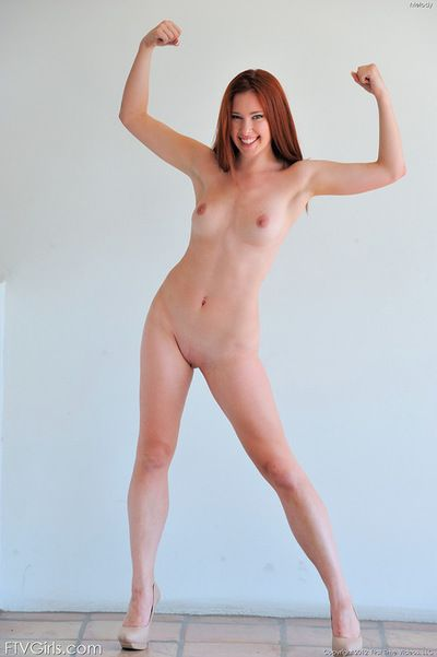 Adorable redhead is stunning when posing nude and teasing with her forms