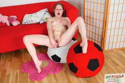 Lass in tight hose gets brutal when feeling her toy over that warm cum-hole