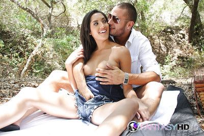 Hardcore waste fucking outdoor features brunette Latina Chloe Amour