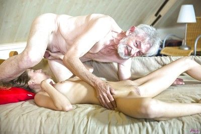 Wiry amateur cutie Rebel Lynn mouth to mouth grandad sooner than hardcore fuck session