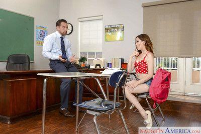 Teen schoolgirl Kasey Warner freeing tiny boobs before giving BJ in underwear