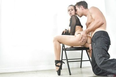 Adolescent pornstar Cassidy Klein having stick shoved up tight asshole