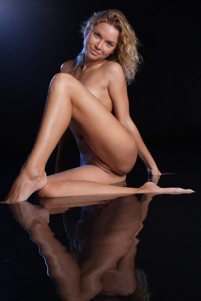 Leggy slight golden-haired Ianisha Nubiles with insignificant milk shakes and fixed bald pussy way bare